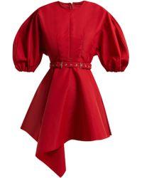 Marques'Almeida - Asymmetric Belted Taffeta Dress - Lyst