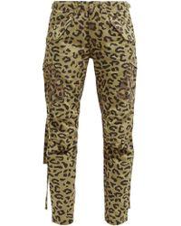 Maharishi Leopard And Camo Print Cotton Twill Cargo Pants