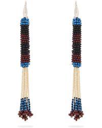 Isabel Marant - Bead Embellished Tassel Drop Earrings - Lyst