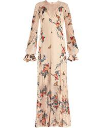 Katie Eary - Fish-print Silk-chiffon Maxi Dress - Lyst
