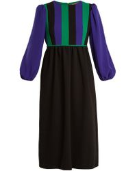 Duro Olowu - Balloon-sleeve Silk-blend Crepe Dress - Lyst