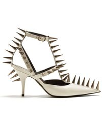Balenciaga - Spike Embellished Leather Pumps - Lyst