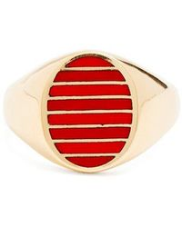 Jessica Biales - Enamel & Yellow-gold Ring - Lyst