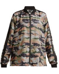 The Upside - Striped Camouflage-print Performance Jacket - Lyst