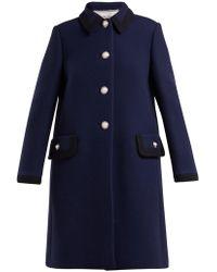 Miu Miu - Embellished Wool Coat - Lyst