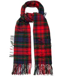 Burberry - Tartan-checked Wool Blend Scarf - Lyst