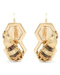 Delfina Delettrez - Diamond, Sapphire & Yellow-gold Earrings - Lyst