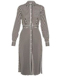 Altuzarra - Dane Striped Crepe De Chine Dress - Lyst