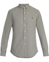 Polo Ralph Lauren - Logo Embroidered Slim Fit Cotton Shirt - Lyst