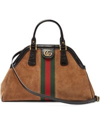 a98f17e96d3 Gucci Vintage Web GG Canvas Mini Bowling Bag in Blue - Lyst