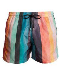 Paul Smith - Artist Stripe-print Swim Shorts - Lyst