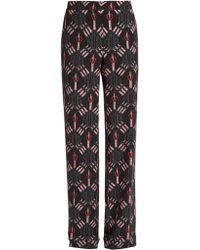 Valentino | Love Blade-print Silk Trousers | Lyst
