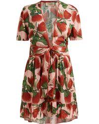 Adriana Degreas - Fiore Floral Print Mini Dress - Lyst