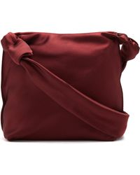 The Row - Wander Small Leather Satin Bag - Lyst