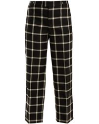 RED Valentino   Checked Wool Cropped Trousers   Lyst