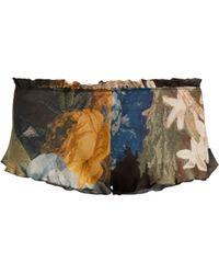 Carine Gilson - Floral Print Silk Pyjama Shorts - Lyst