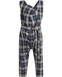 Vivienne Westwood - Tartan Wool Dungarees - Lyst