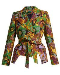 Duro Olowu - Floral-print Peak-lapel Textured-cloqué Blazer - Lyst