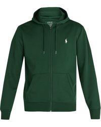 Polo Ralph Lauren - Zip Through Hooded Cotton Jersey Sweatshirt - Lyst