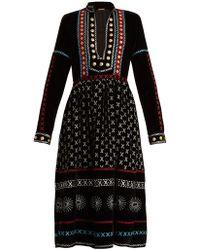 Dodo Bar Or - Embellished Velvet Dress - Lyst