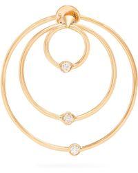 Delfina Delettrez - Diamond & Yellow Gold Hoop Single Earring - Lyst