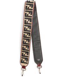 Fendi - Strap You Logo-embroidered Raffia Bag Strap - Lyst