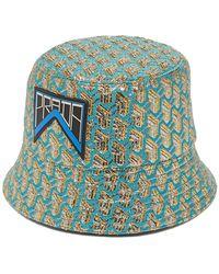 47b620c2cd6b8 Prada - Geometric Jacquard Logo Patch Bucket Hat - Lyst