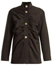 Marni - Gathered-front Cotton-blend Jacket - Lyst
