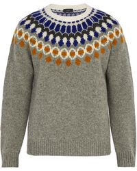 JOSEPH - Bohus-knit Wool Sweater - Lyst