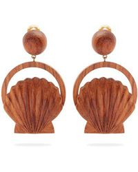 Rebecca de Ravenel - Venus Wood Clip-on Earrings - Lyst