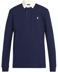 Polo Ralph Lauren - Logo Embroidered Cotton Rugby Shirt - Lyst