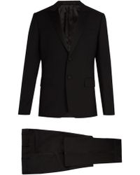Valentino - Satin Lapel Wool And Mohair Blend Tuxedo - Lyst