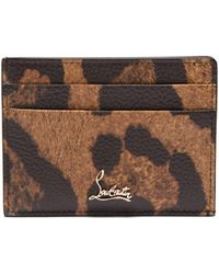 Christian Louboutin Kios Leopard Print Leather Cardholder
