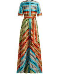 Mary Katrantzou - Long Striped Shirt Dress - Lyst