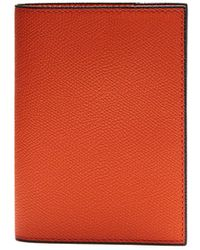 Valextra - Grained-leather Passport Holder - Lyst