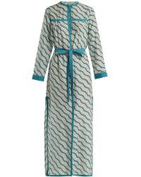 Talitha - Zig Zag Printed Silk Cotton Robe - Lyst