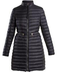 Moncler - Black Hermine Nylon Down Jacket - Lyst