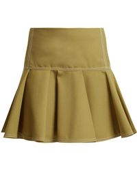 Chloé - Mid-rise Wool-blend Skirt - Lyst