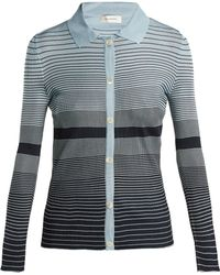 Wales Bonner - Striped Button Down Knit Top - Lyst