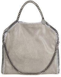 Stella McCartney - Falabella Small Faux-suede Shoulder Bag - Lyst