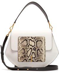 Wandler Al Leather Cross Body Bag - White