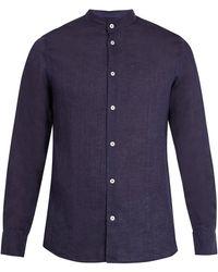 Frescobol Carioca - Granddad Collar Linen Shirt - Lyst