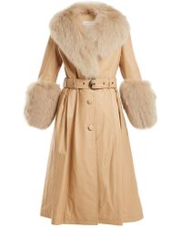 Saks Potts - Foxy Fur-trimmed Leather Coat - Lyst
