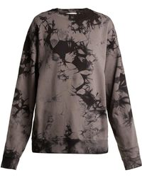 Helmut Lang - Logo-print Tie-dyed Cotton Sweatshirt - Lyst