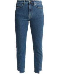 M.i.h Jeans - Niki High Rise Slim Leg Cropped Jeans - Lyst