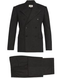 Maison Margiela - Pinstripe Wool Felt Three Piece Suit - Lyst