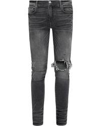 Amiri Broken Skinny Jeans - Gray