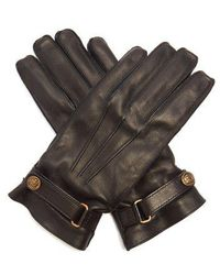 Gucci - Angry Cat Leather Gloves - Lyst