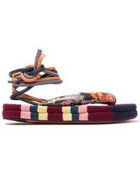 Isabel Marant - Elliam Ankle Tie Sandals - Lyst