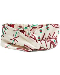 Valentino - Graphic-print Silk Headband - Lyst